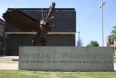 Escola de artes de palco Booker T washington fotografia de stock