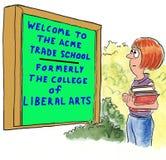 Escola de comércio do Acme ilustração royalty free