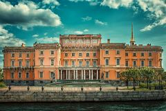 Escola de engenharia em St Petersburg Foto de Stock Royalty Free