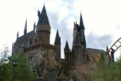 Escola de Hogwarts da feitiçaria e da feitiçaria Fotos de Stock Royalty Free