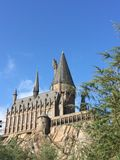 A escola de Hogwartz da mágica no mundo mágico de Harry Potter em estúdios universais em orlando florida Imagens de Stock