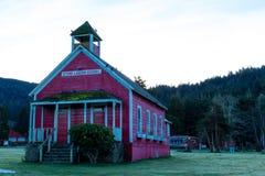 Escola de pedra da lagoa em Trinidad, Califórnia fotografia de stock