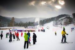 Escola do esqui Foto de Stock Royalty Free