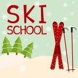 Escola do esqui Educação Fotografia de Stock Royalty Free