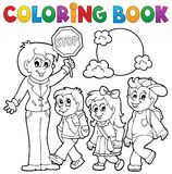 A escola do livro para colorir caçoa o tema 1 Fotos de Stock