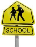 Escola do sinal de tráfego Fotografia de Stock Royalty Free