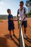 Escola do tênis exterior Imagens de Stock Royalty Free