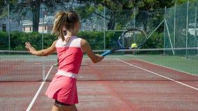 Escola do tênis exterior Imagem de Stock