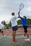 Escola do tênis exterior Fotografia de Stock