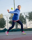 Escola do tênis exterior Imagem de Stock Royalty Free