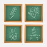 Escola dos ícones Foto de Stock Royalty Free