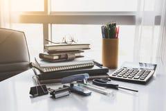 Escola e escritório estacionários Imagens de Stock Royalty Free