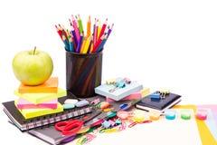 Escola e escritório estacionários. De volta ao conceito da escola Foto de Stock
