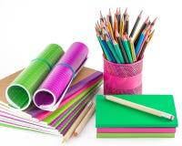 Escola e materiais de escritório Fotografia de Stock