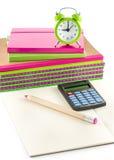 Escola e materiais de escritório Fotos de Stock