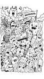 Escola e minha imaginação ilustração do vetor