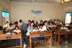 Escola em Cambodia fotos de stock royalty free
