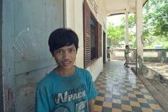 Escola em Cambodia imagem de stock
