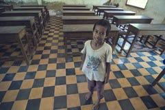 Escola em Cambodia foto de stock