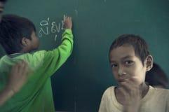 Escola em Cambodia imagens de stock royalty free