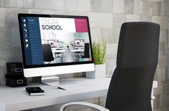escola em linha do espaço de trabalho industrial Imagens de Stock Royalty Free