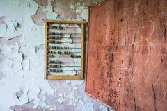 Escola em Pripyat fotografia de stock
