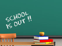 A escola está para fora Foto de Stock