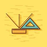 Escola geométrica dos instrumentos Foto de Stock
