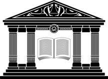 Escola helénica antiga. estêncil Imagem de Stock Royalty Free