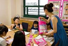 Escola inglesa em Coreia do Sul Fotografia de Stock Royalty Free