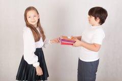 Escola mais nova dos estudantes Imagem de Stock