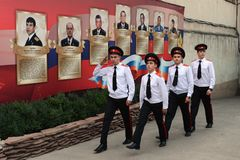 Escola militar de Novocherkassk Suvorov dos cadete Fotografia de Stock