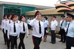 Escola militar de Novocherkassk Suvorov dos cadete fotos de stock royalty free