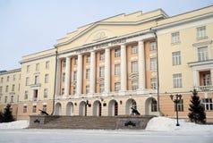 Escola militar de Yekaterinburg Suvorov do Minis imagens de stock royalty free