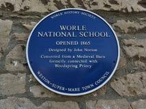 Escola nacional de Worle fotografia de stock royalty free