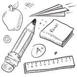 A escola objeta a ilustração Imagem de Stock Royalty Free