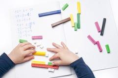 Escola primária: exercícios aritméticos Imagem de Stock Royalty Free