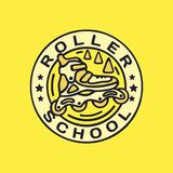Escola profissional do rolo do emblema do logotipo do vetor moderno Imagem de Stock