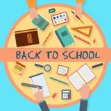 Escola que estuda o grupo do ícone Fotografia de Stock
