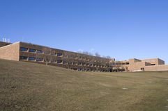 High School pública e terras foto de stock