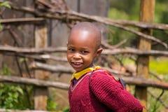 Escolar en África Imagen de archivo libre de regalías