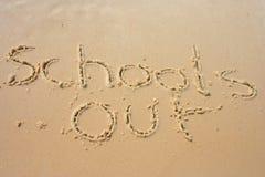 Escolas para fora na areia Foto de Stock Royalty Free