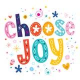 Escolha a alegria Imagens de Stock