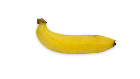 Escolha a banana cultivada no fundo branco Foto de Stock