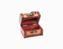 Escolha a caixa de madeira aberta no fundo branco Fotografia de Stock Royalty Free
