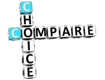 a escolha 3D compara palavras cruzadas Imagens de Stock