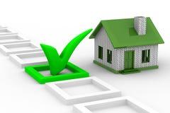 Escolha da casa no fundo branco Imagens de Stock Royalty Free