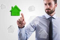 Escolha da casa rendição 3d Imagens de Stock Royalty Free