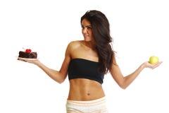 Escolha da dieta Fotografia de Stock Royalty Free