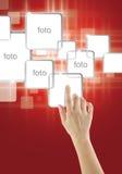 Escolha da indicação digital Imagens de Stock